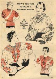 1930s peasant blouses vintage 30s blouse pattern
